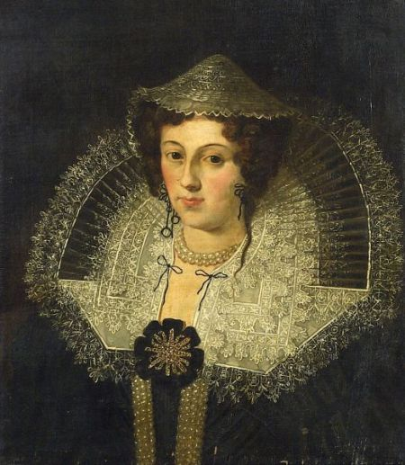 Portrait of an Elegant Lady in an Elaborate Lace Collar
