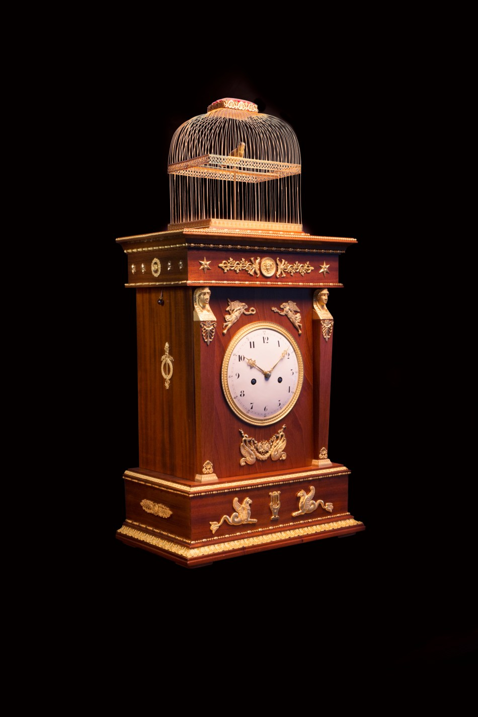 Jaquet Droz SINGING BIRD PENDULUM CLOCK