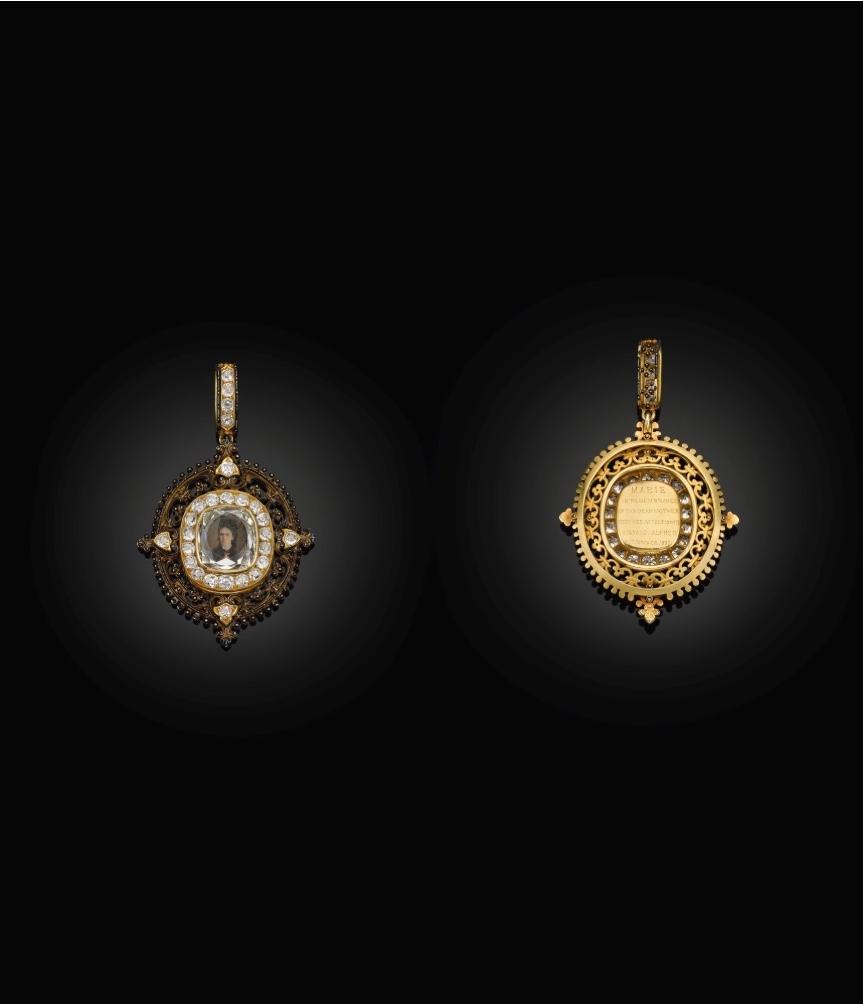 Empress Maria Alexandrovna portrait diamond pendant