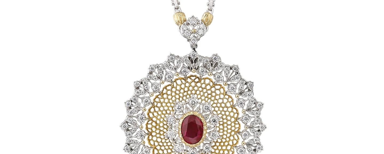 Buccellati pendant/brooch Rosso Fuoco