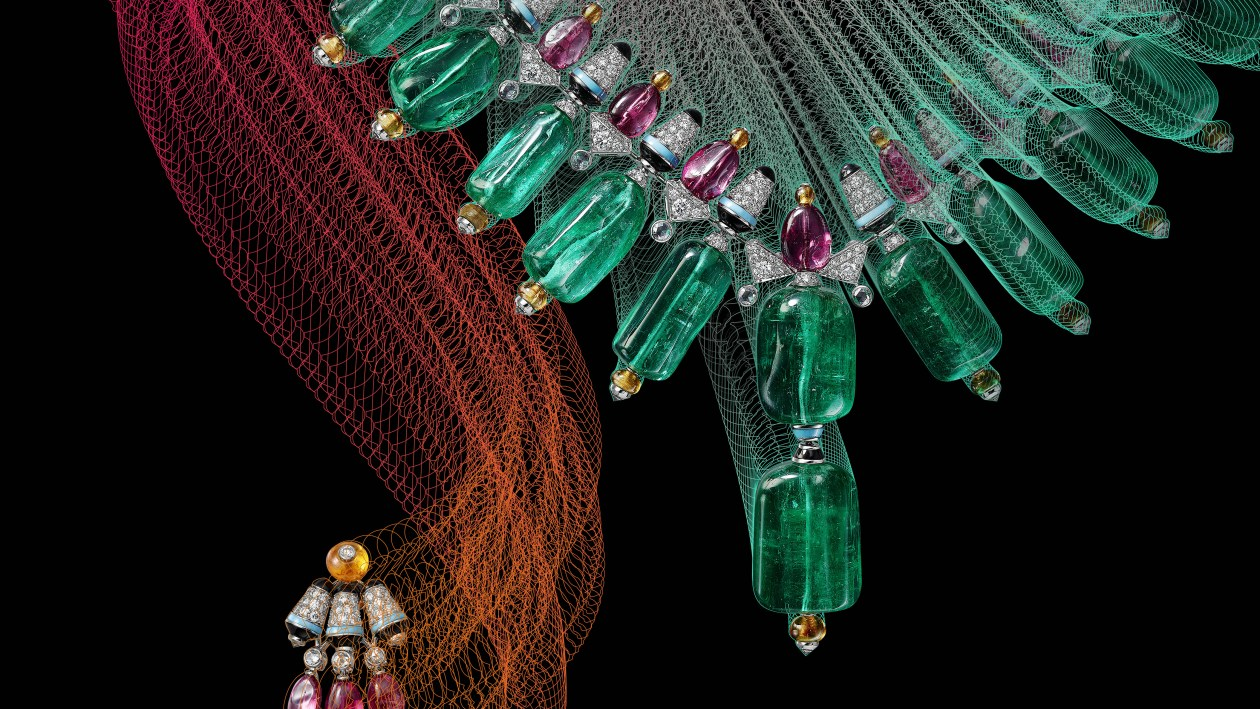 Coloratura by Cartier Chromaphonia necklace and earrings