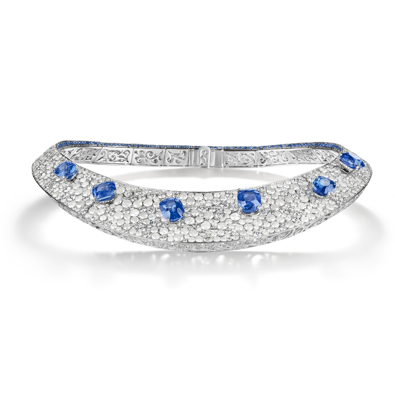 de Grisogono - High Jewellery Diamond and Sapphire Necklace