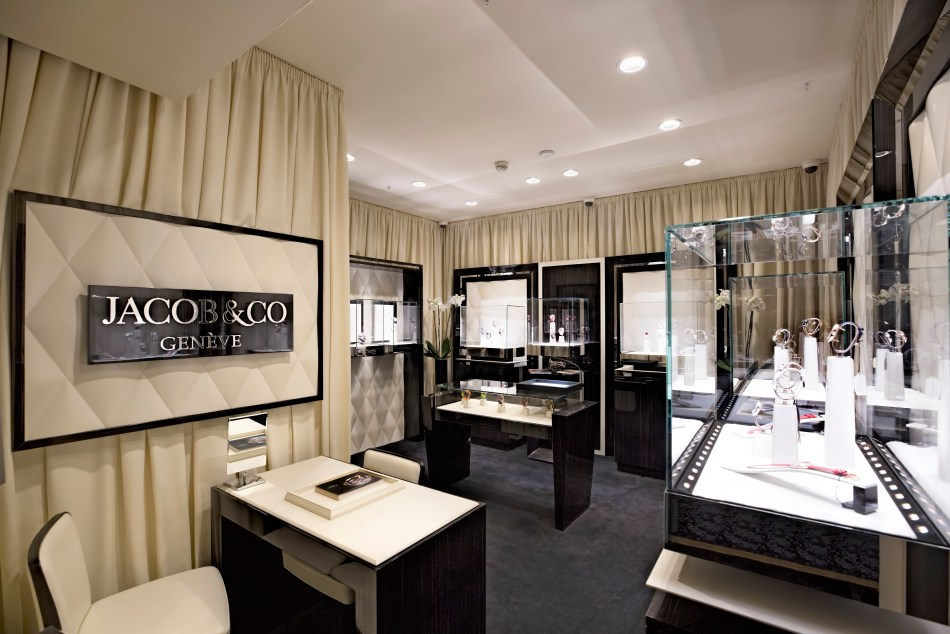 Jacob & Co boutique at the Four Seasons Hotel des Bergues Geneva