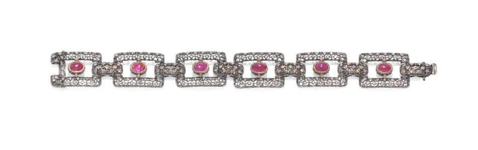 A ruby and diamond bracelet, by Mario Buccellati