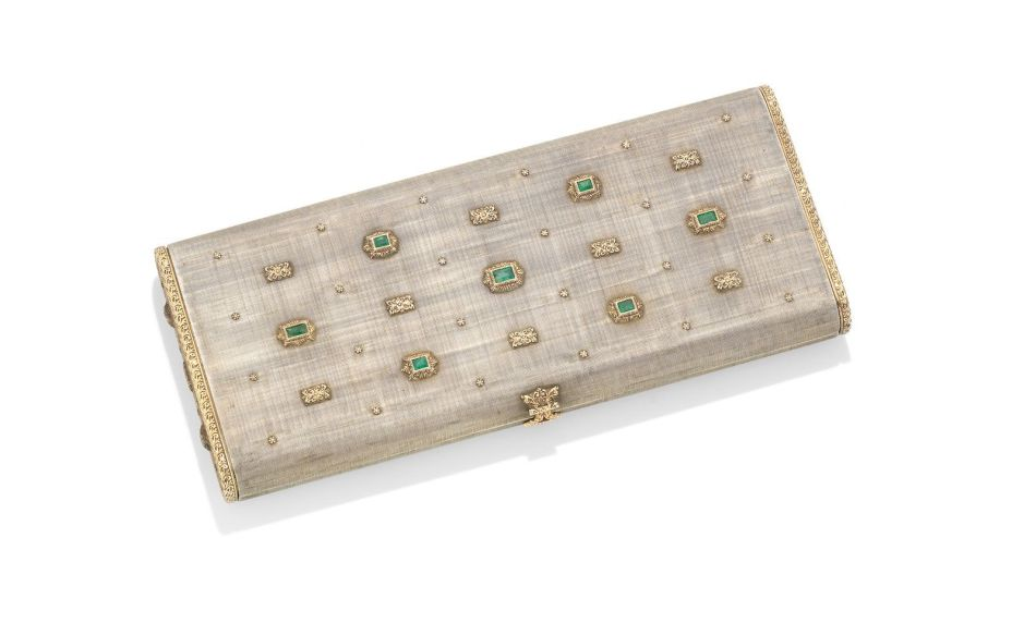 A silver, gold and emerald nécessaire, by Mario Buccellati