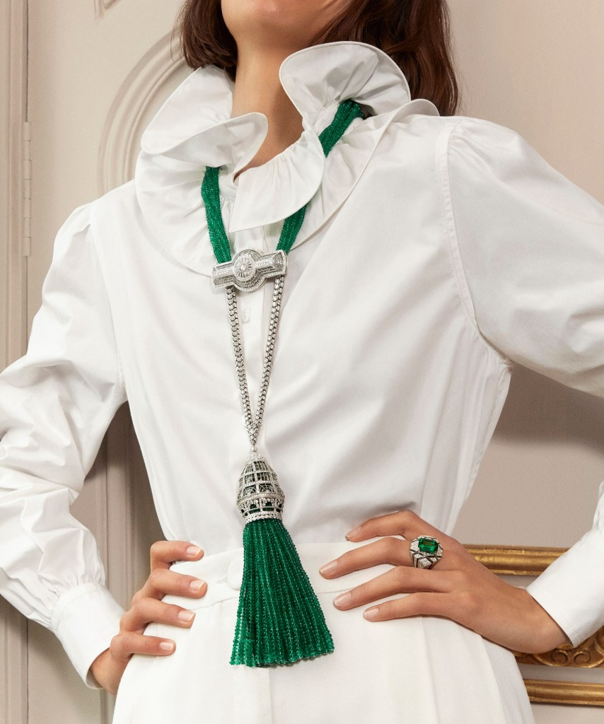 2019 HJ collection Paris, vu du 26 - Verrière long necklace & Perspective ring
