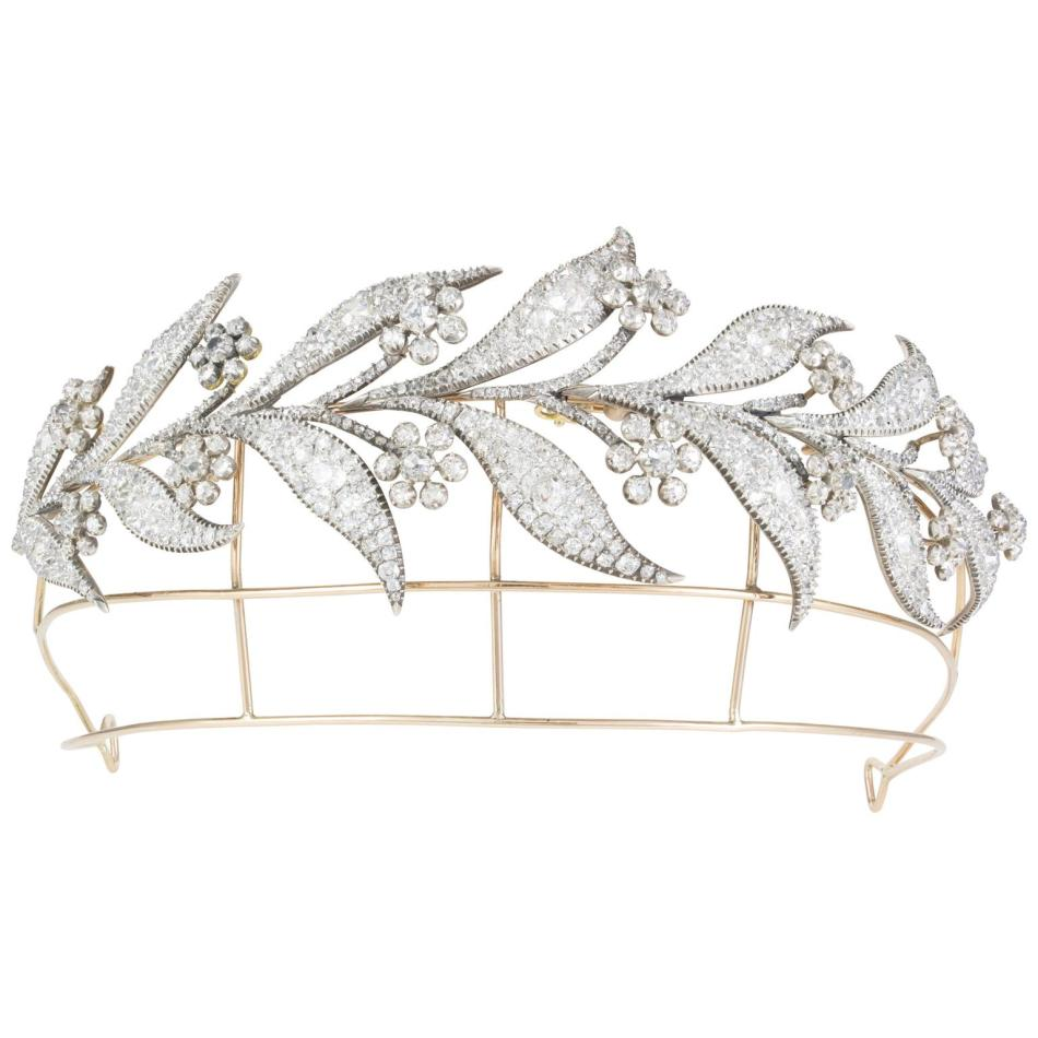 Downton Abbey Georgian Wedding Diamond Tiara 벤틀리 & 스키너