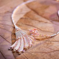 The Blushing Wing Necklace