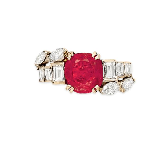 Franca Valeri Ruby and Diamond Ring Bulgari