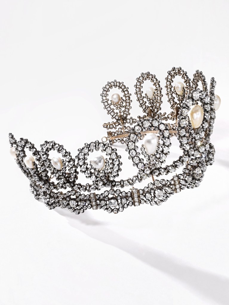 House of Savoy Natural Pearl and Diamond Tiara - Sotheby's Geneva
