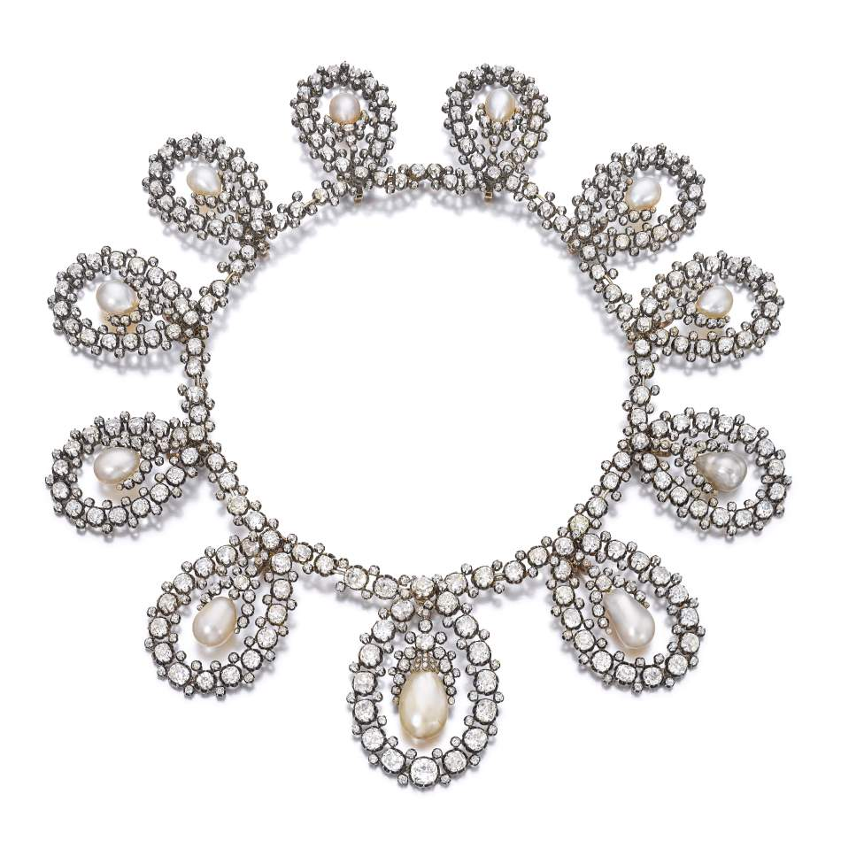 House of Savoy Natural Pearl и Diamond Tiara - Sotheby's, Женева