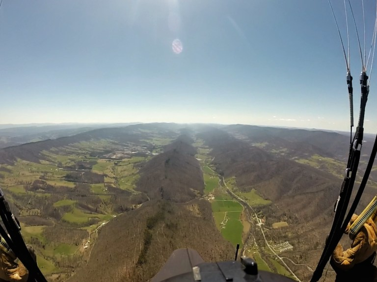 Paragliding in West Virginia