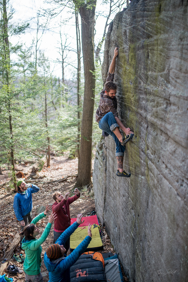 Bouldering at Coopers Rock
