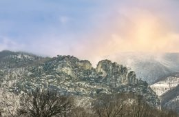 Winter at Seneca Rocks