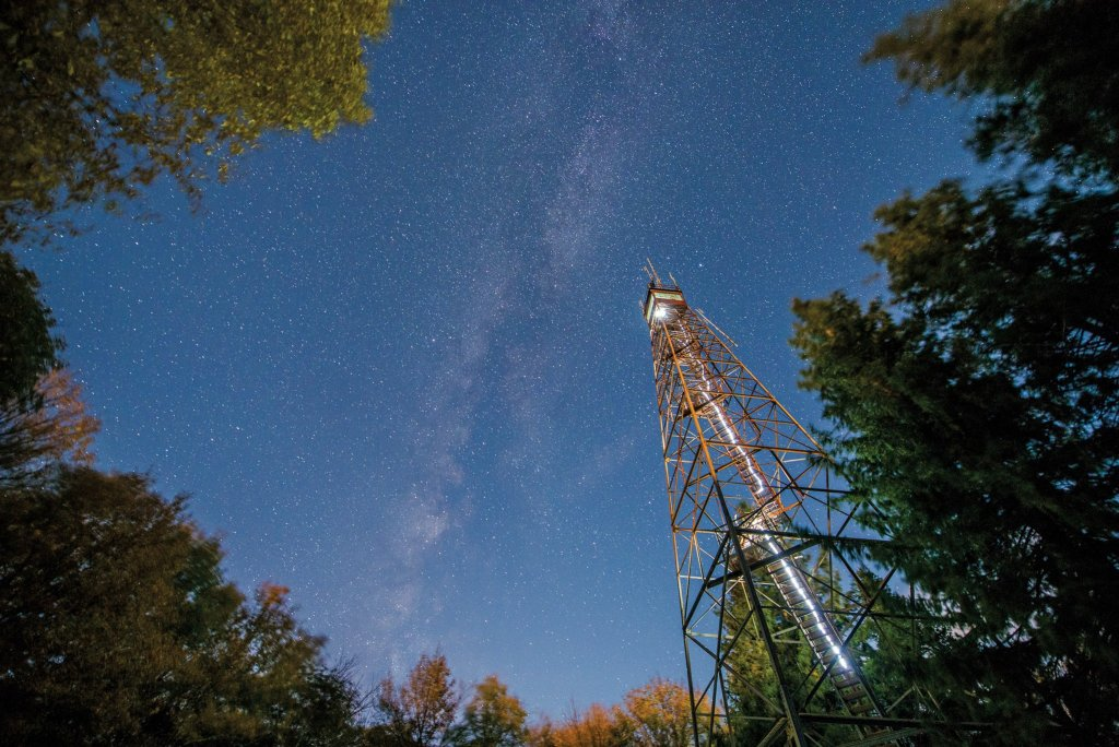 WV Night Photography: Olsen Tower Milky Way