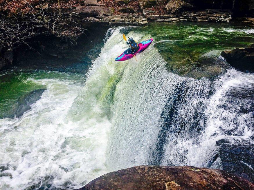 Kayaking Glade Creek Falls