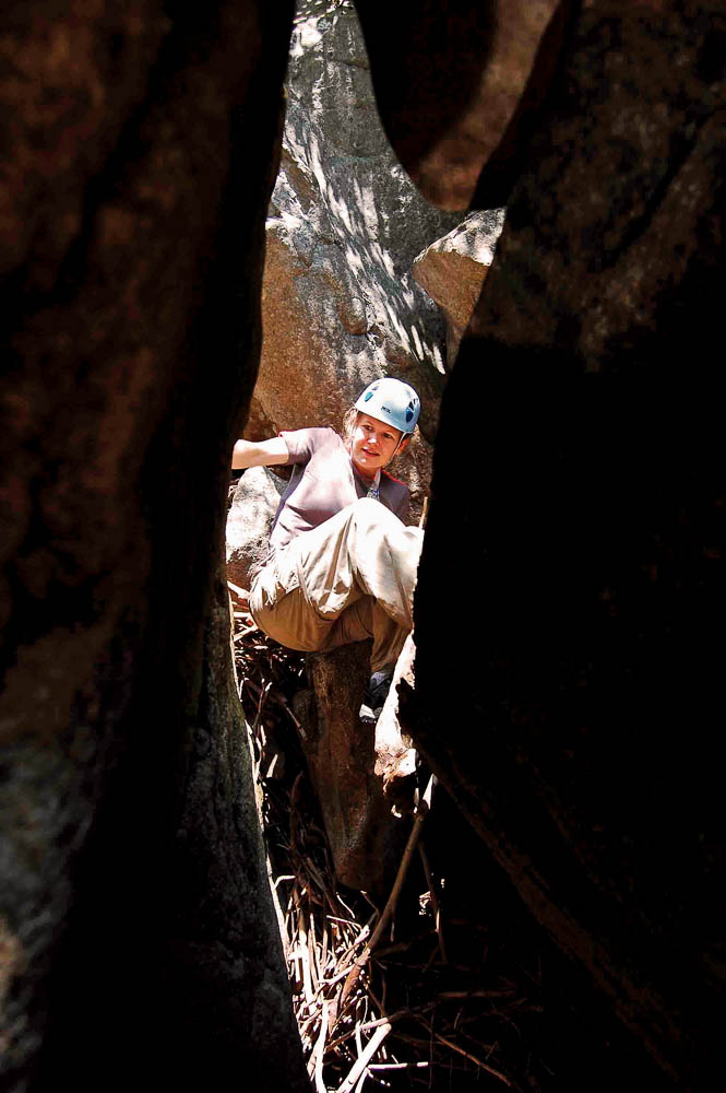 Slot Canyon with Boulders