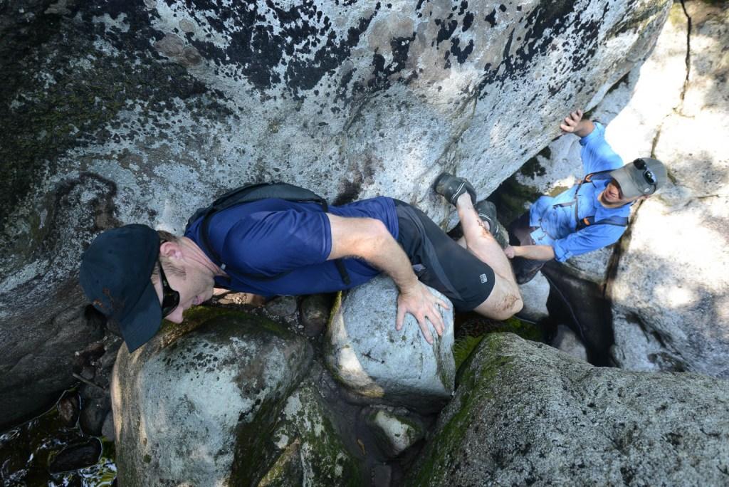 Creekyoneering - Off-Width Bouldering