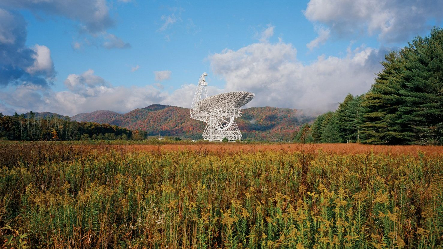 Green Bank Observatory: Fall View of the GBT