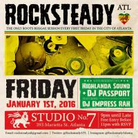 ATLANTA ROOTS REGGAE EVENT *Rocksteady ATL* Friday, Jan. 1