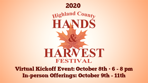 Highland County, Virginia, Hands and Harvest Festival, fall, festival, autumn, pumpkins, COVID-19, coronavirus, friendly, agriculture, agritourism, fall leaves, leaf viewing, shopping, vendors, event