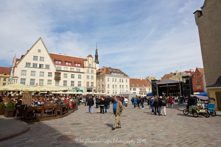 Town Square, Tallinn, Estonia.