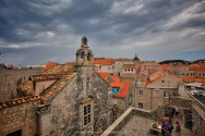 Walk along the old city wall, Dubrovnik, Croatia