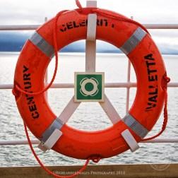 Sailing on Celebrity Century between Ketchikan and Juneau, Alaska