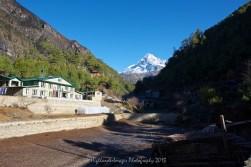 Starting the trek on Day 3 from Monjo towards Namche Bazaar