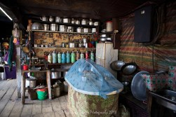 A small tea house on the outskirts of Namche Bazaar