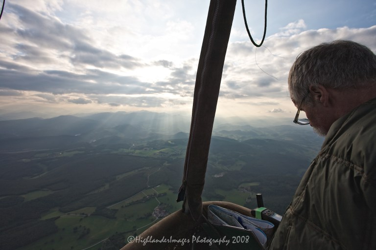 Hot Air Balloon Trip, Meherling, Austria