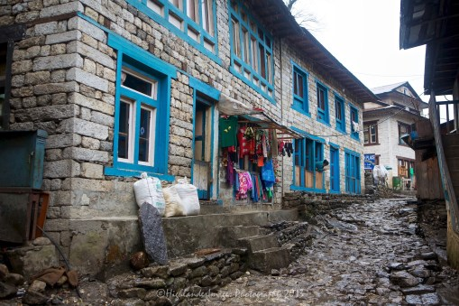 Arrival back at Phakding after a long and wet trek from Namche Bazaar