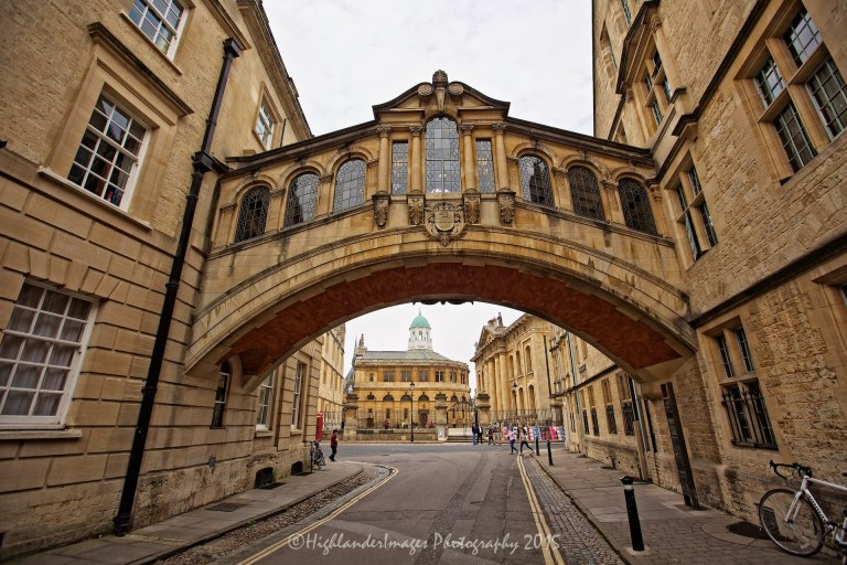 Bridge of Sighs, Hertford College, Oxford University, Oxford, UK.