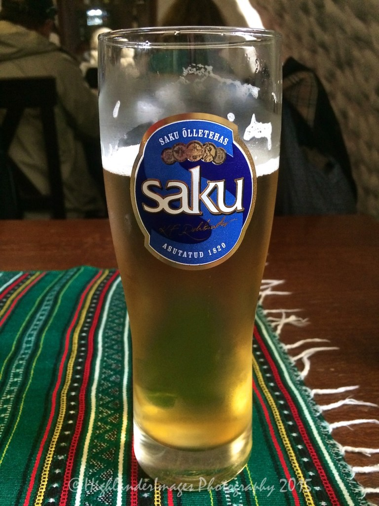 Local beer, Tallinn, Estonia.