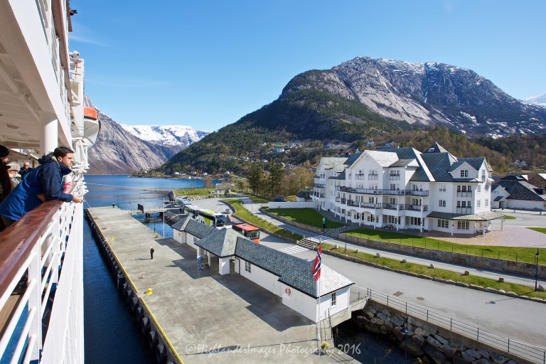 Sailing to Eidfjord, Norway aboard Marco Polo