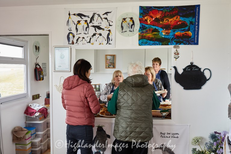 Sea Cabbage Cafe, Bluff Cove Penguin Rookery, Falkland Islands