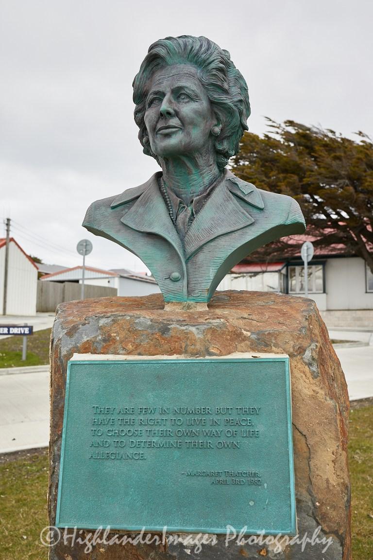 Margaret Thatcher Memorial Bust, Port Stanley, Falkland Islands