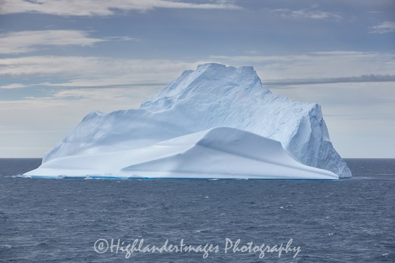 Iceberg in South Atlantic between Falkland Islands and Uruguay