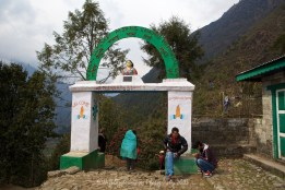 The start of the Everest Base Camp trail trek from Lukla