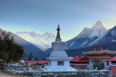 Buddhist stupa at Tengboche monastery.