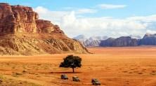 Todoterrenos en el desierto de Wadi Rum
