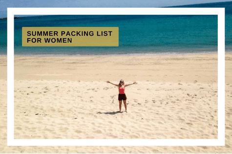 Summer packing for women
