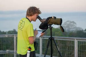 Micah Riegner birdwatching