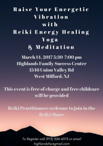 Raise your energetic vibration @highlandsfsc with free reiki and