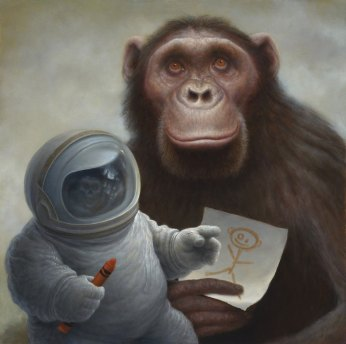 Realist Painter Chris Leib Drawing God With A Crayon