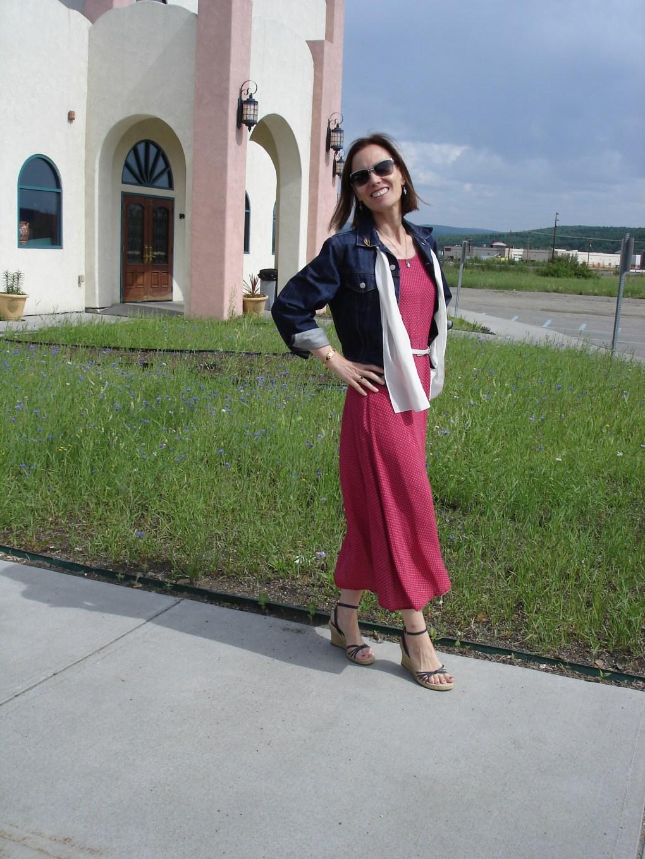 #styleover40 woman in patriotic attire