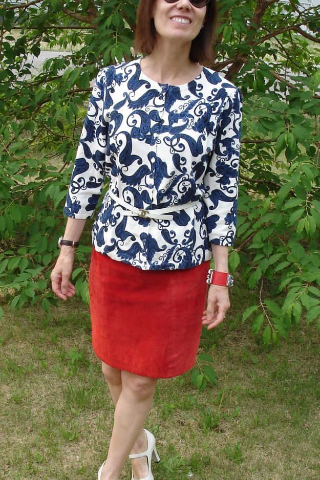 #fashionover40 mature patriotic look @ High Latitude Style