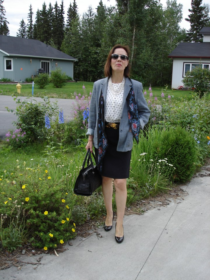 style over 40 outfit for guest at a civil wedding