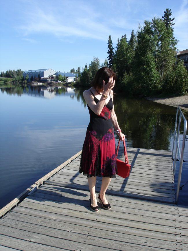 stylist in summer dress