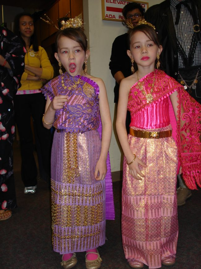 Thai girls in wedding guest dresses